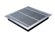 Aluminum air grille with damper